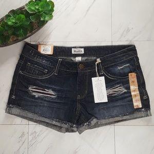 Mudd Serape Pocket Bag Distressed Shorts NWT 9